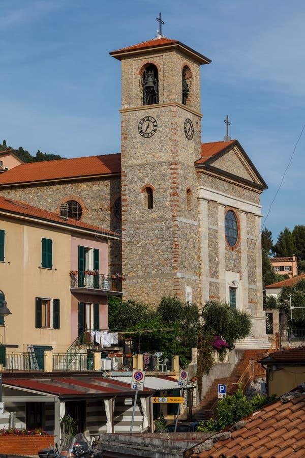 Cidade de Tellaro perto do La Spezia em Itália imagem de stock royalty free