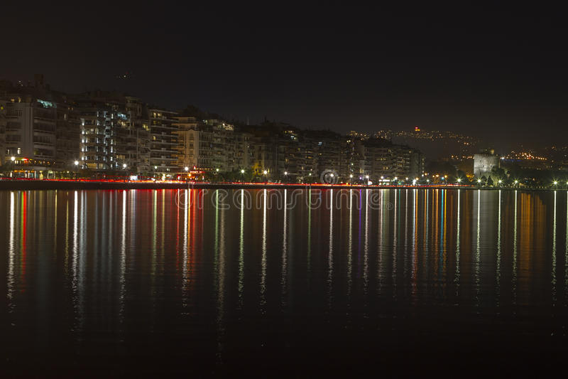 Cidade de Tessalónica foto de stock