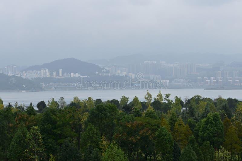 Cidade de Three Gorge Dam, China imagens de stock