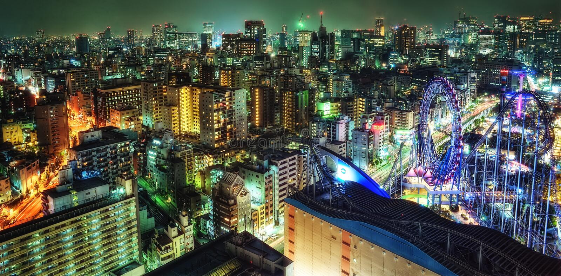 Cidade de Tokyo Dome imagens de stock royalty free