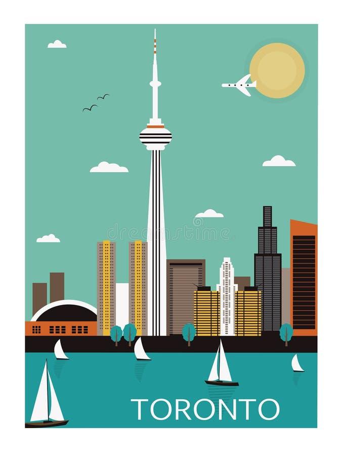 Toronto. Canadá. ilustração stock