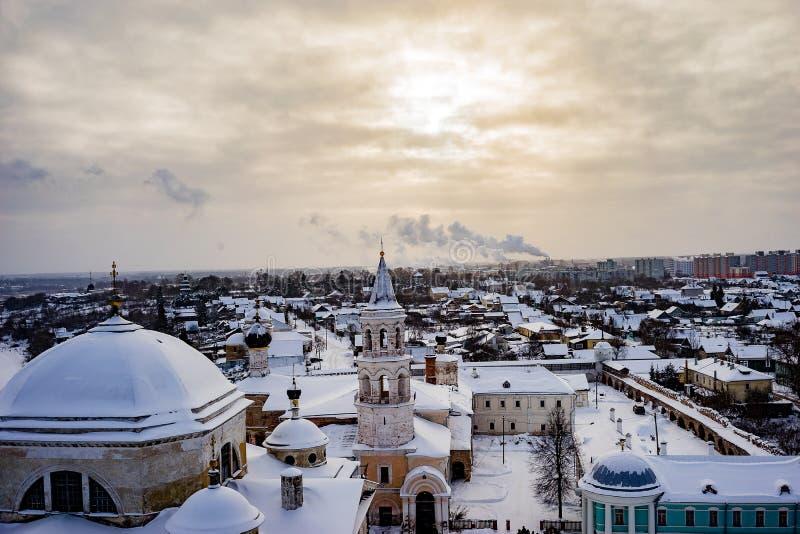 A cidade de Torzhok da região de Tver, a vista da plataforma de observação foto de stock