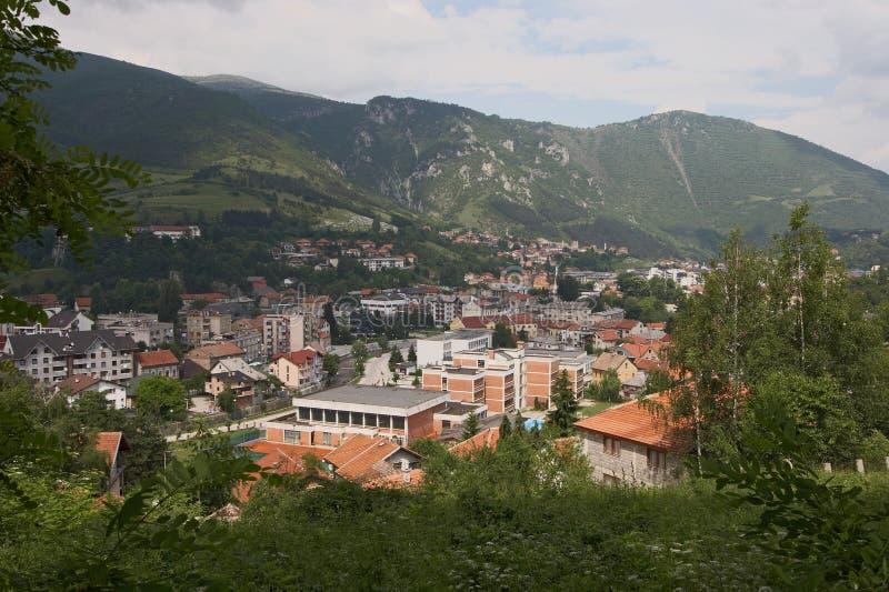 Cidade de Travnik imagens de stock royalty free