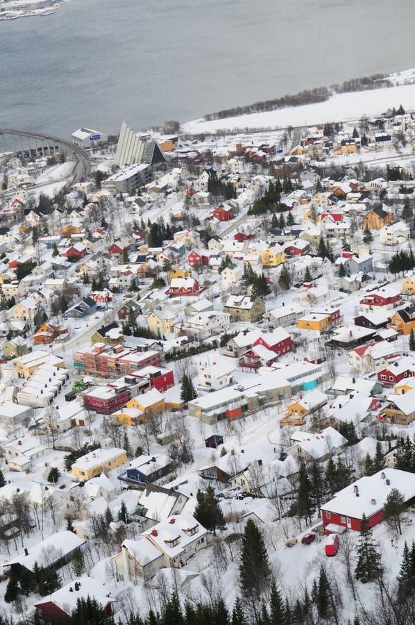 Cidade de Tromso fotografia de stock