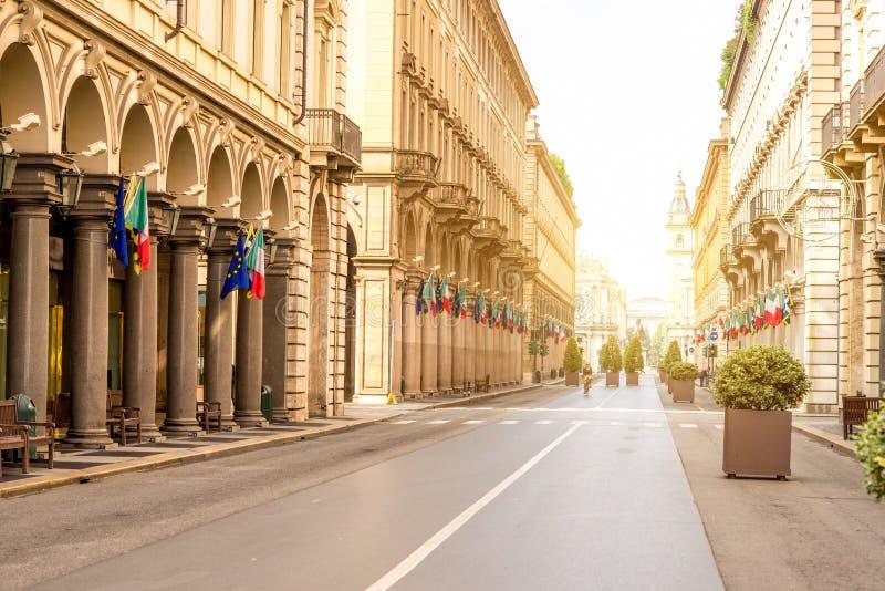 Cidade de Turin em Itália fotografia de stock royalty free