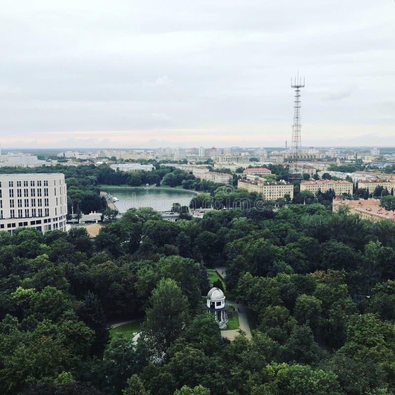 Cidade de uma vista aérea imagem de stock royalty free