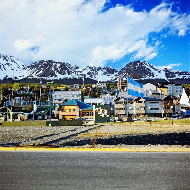 Cidade de Ushuaia, Argentina imagem de stock royalty free