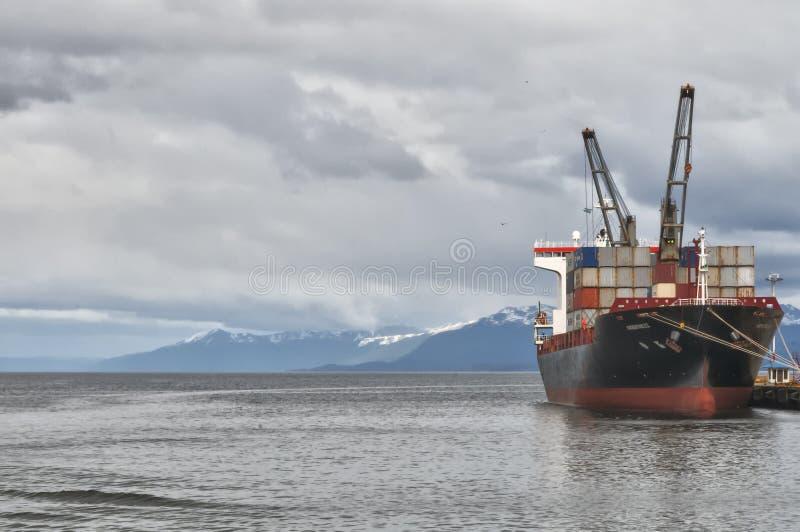 Cidade de Ushuaia, Tierra del Fuego, Argentina fotografia de stock royalty free