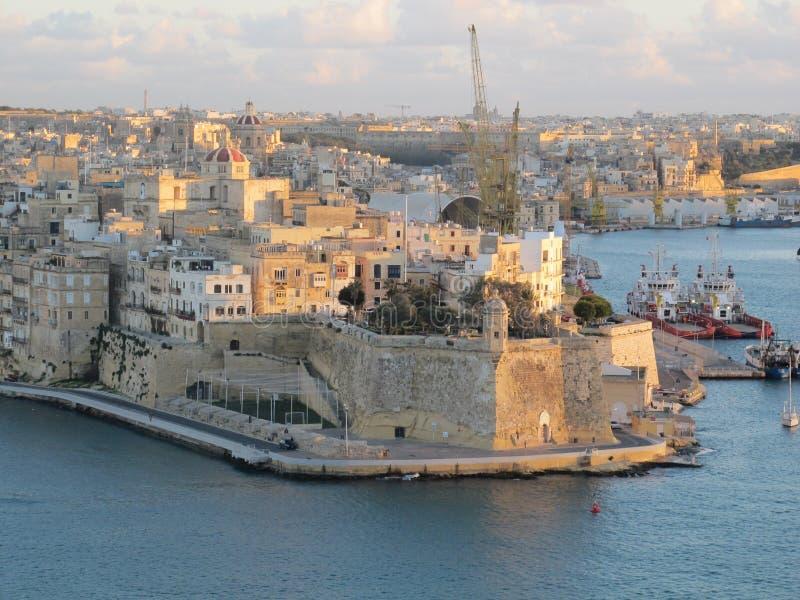Cidade de Valleta imagens de stock