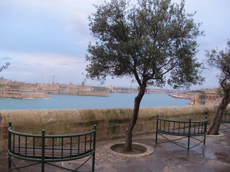Cidade de Valletta - Malta fotos de stock royalty free