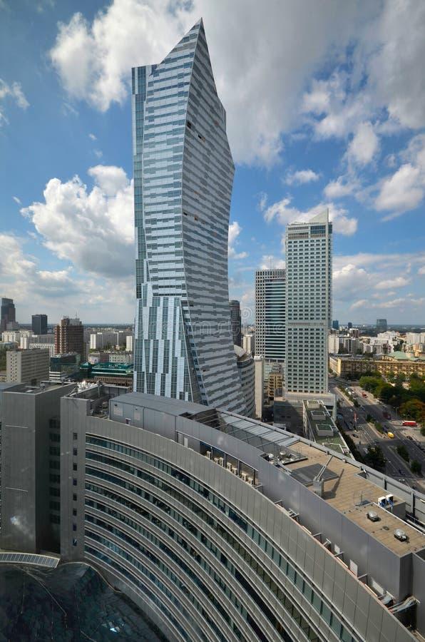 Cidade de Varsóvia imagens de stock
