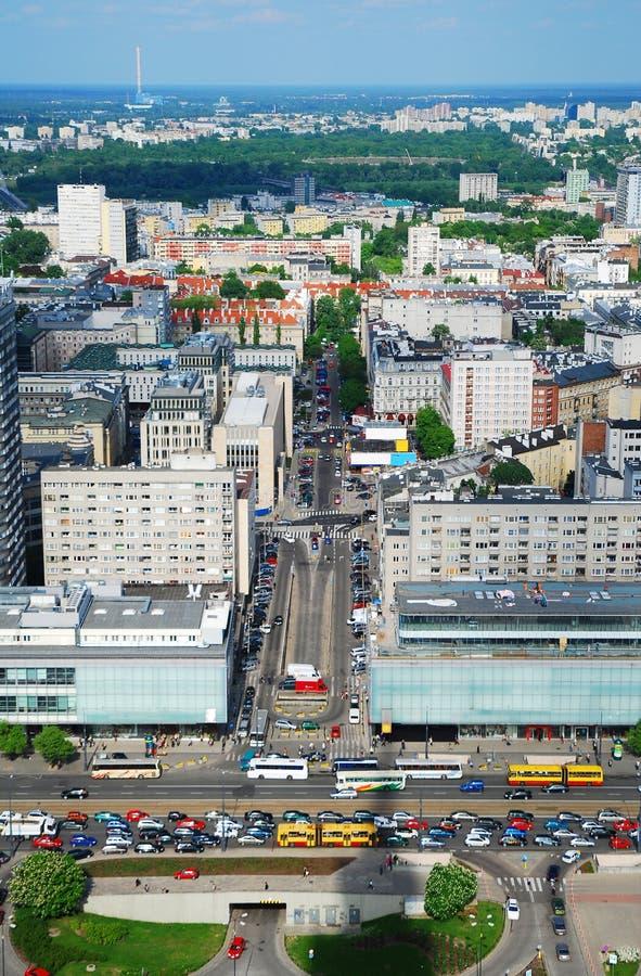 Cidade de Varsóvia imagem de stock royalty free
