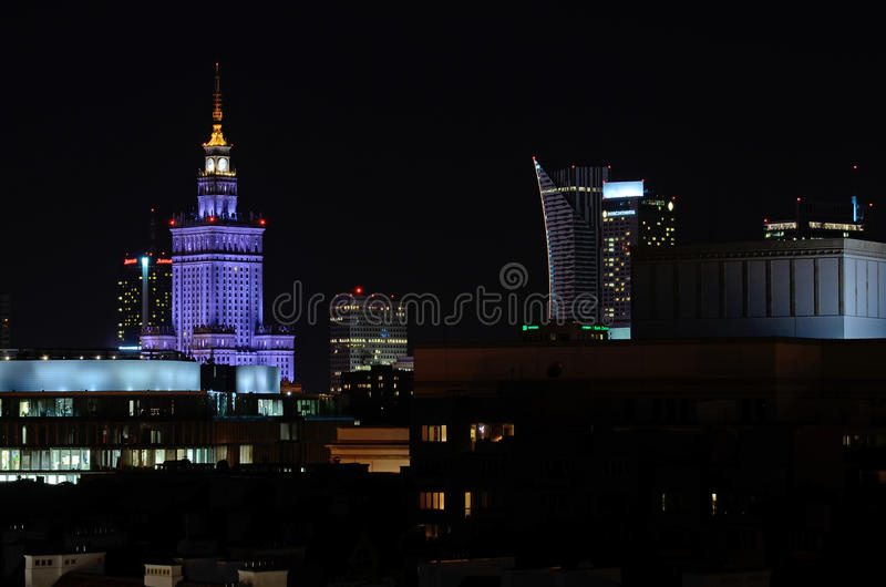 Cidade de Varsóvia (Polônia) foto de stock