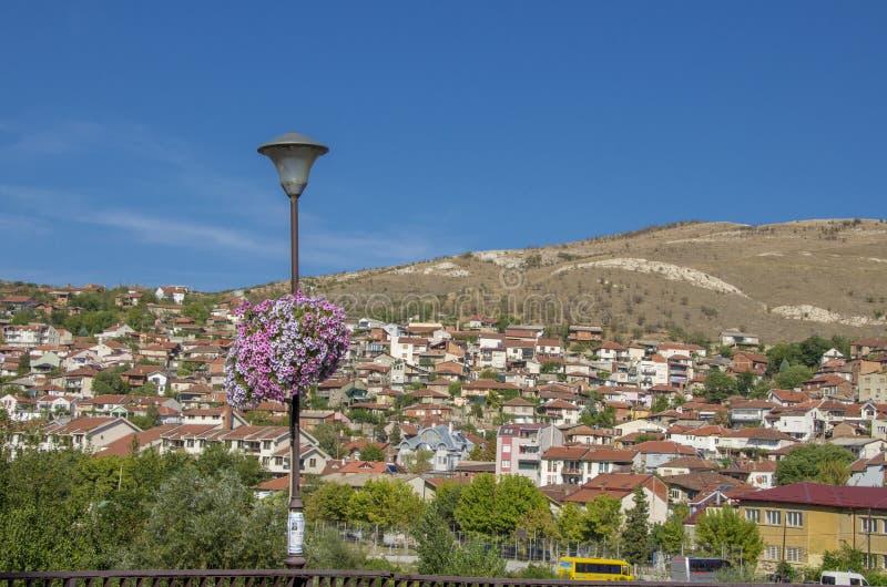 Cidade de Veles em Macedônia imagens de stock