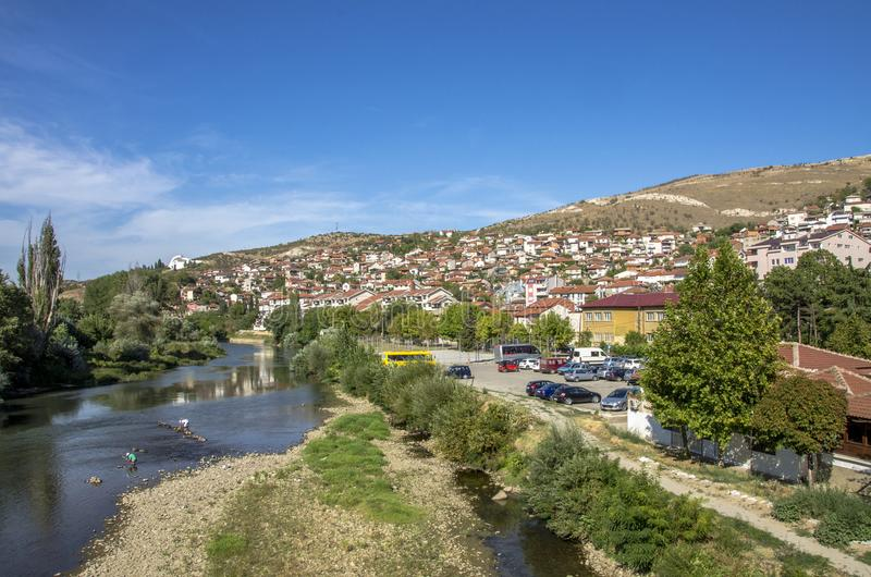 Cidade de Veles em Macedônia imagens de stock royalty free
