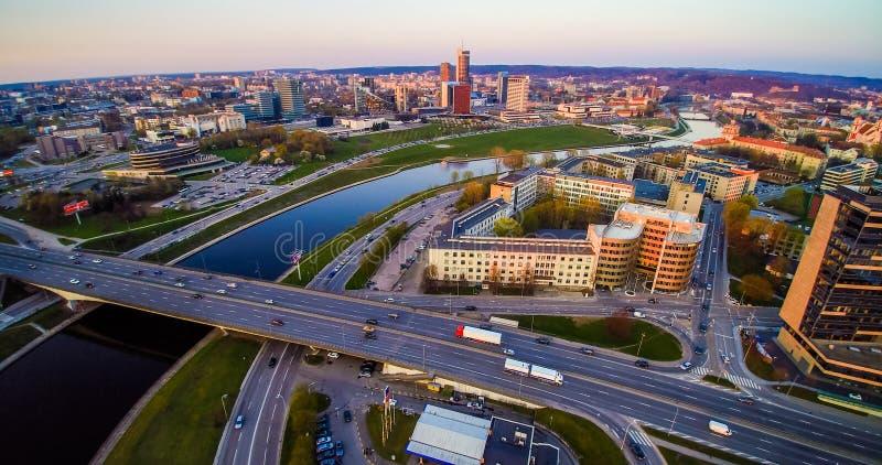 Cidade de Vilnius imagem de stock