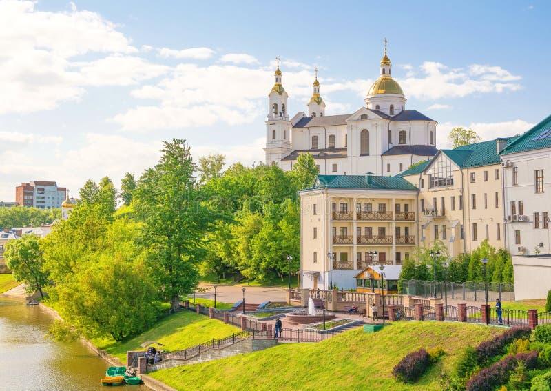 Cidade de Vitebsk em Bielorrússia fotos de stock