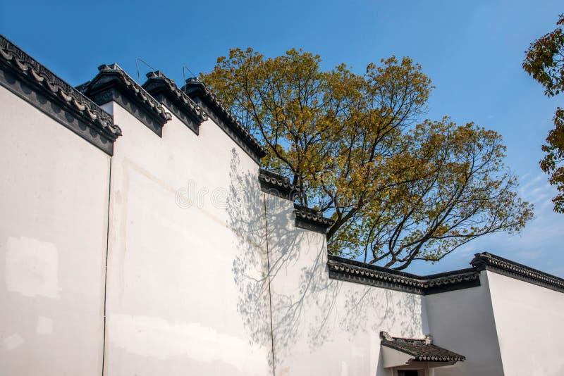 Cidade de Wujiang na mesma parede da cidade imagem de stock