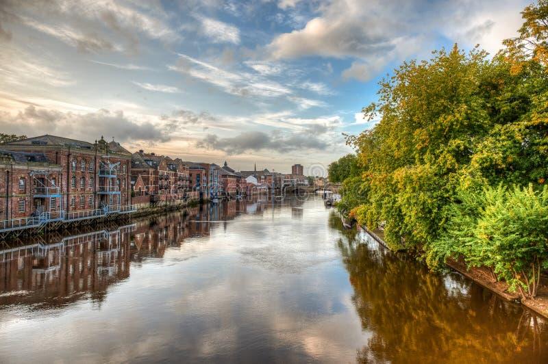 A cidade de York no Reino Unido - Inglaterra imagens de stock royalty free