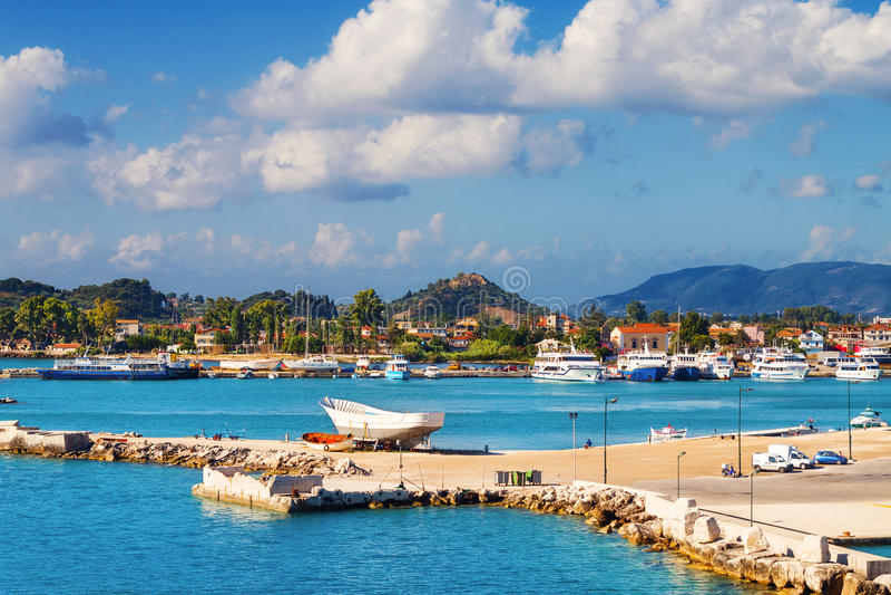 Cidade de Zakynthos na manhã imagem de stock royalty free