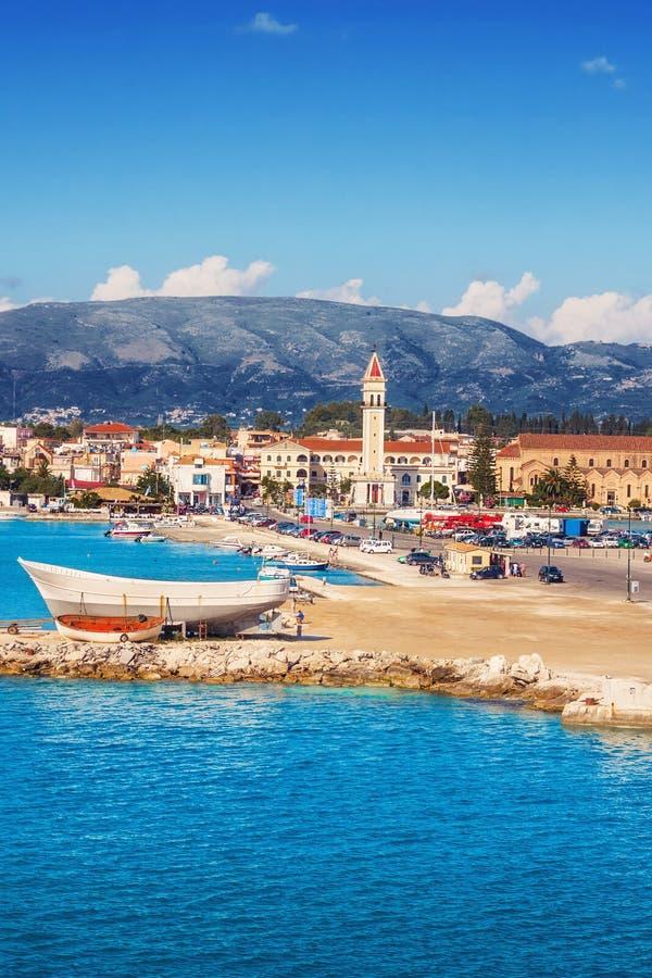 Cidade de Zakynthos na manhã fotos de stock royalty free