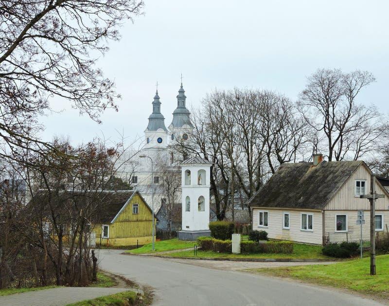 Cidade de Zemaiciu Kalvarija, Lituânia imagens de stock
