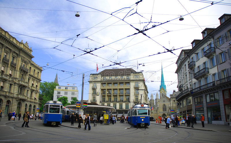 Cidade de Zurique imagens de stock royalty free