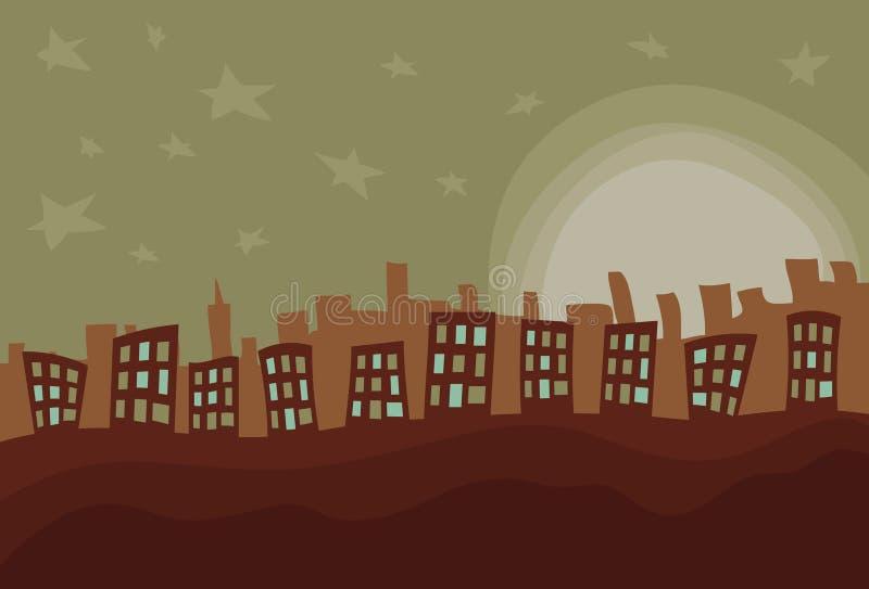 Cidade desarrumado desenhada mão ilustração stock