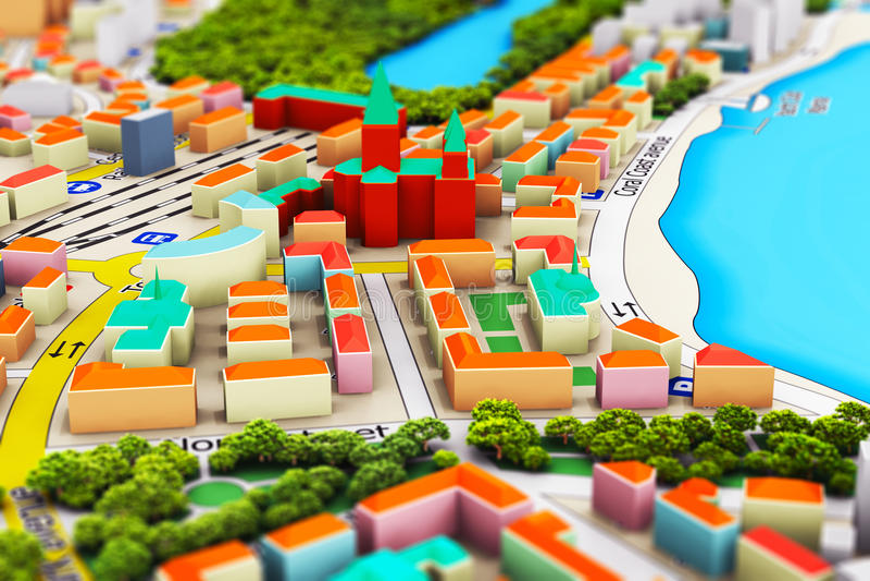 Cidade diminuta ilustração do vetor