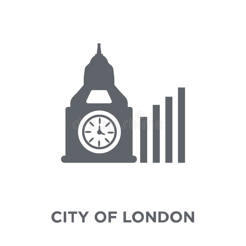 Cidade do ícone de Londres da cidade da coleção de Londres ilustração royalty free