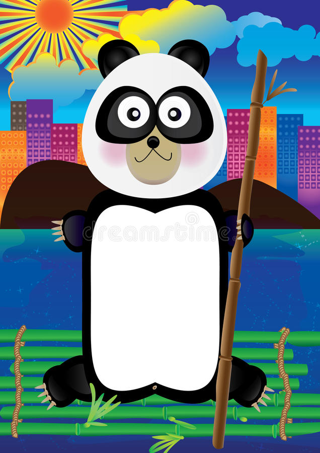Cidade do adeus da panda ilustração royalty free
