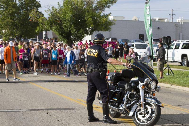 Cidade do agente da polícia do Topeka Kansas imagem de stock royalty free