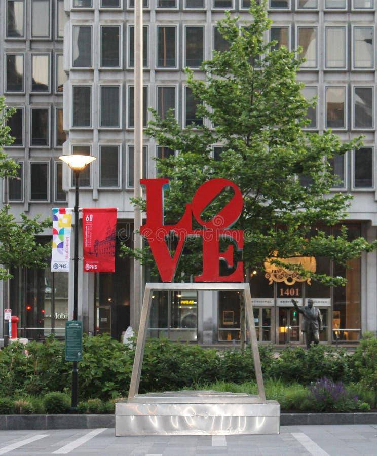 Cidade do amor fraternal Philadelphfia fotografia de stock royalty free