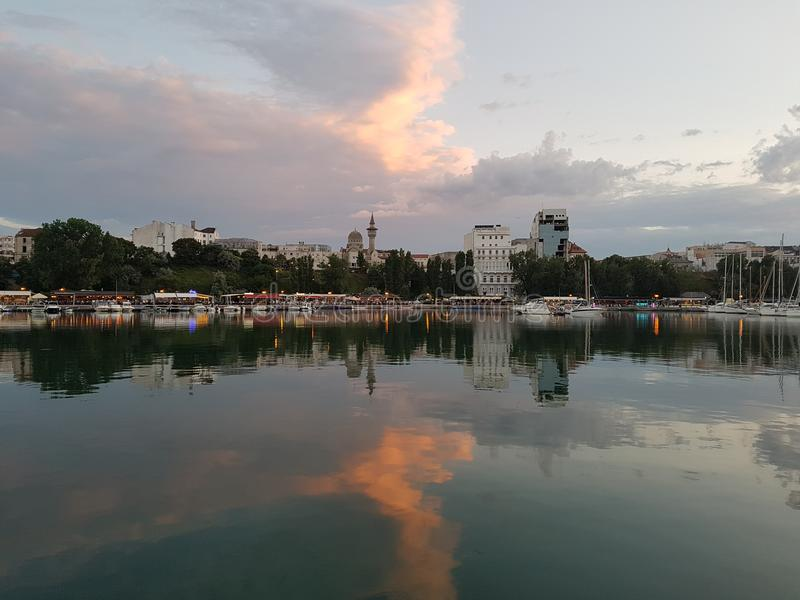 Cidade do beira-mar imagem de stock royalty free