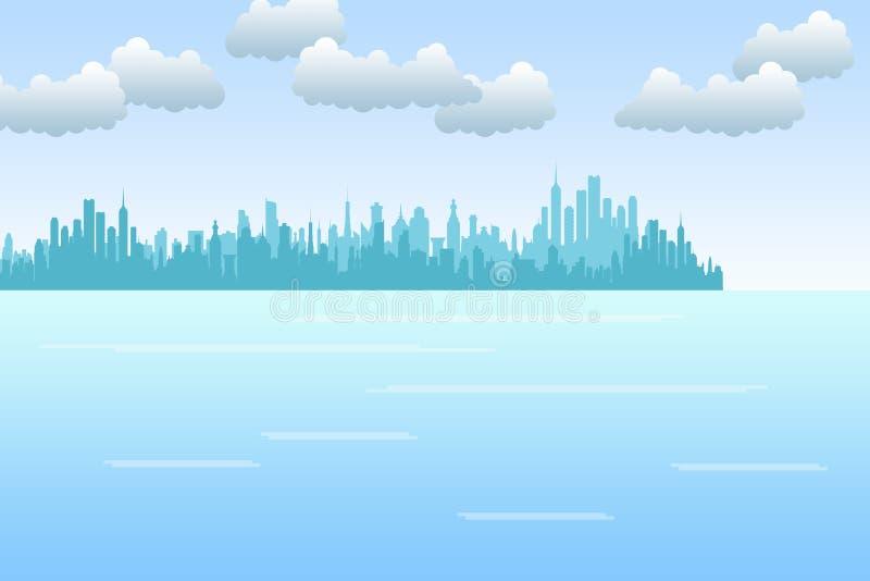 Cidade do beira-mar ilustração royalty free