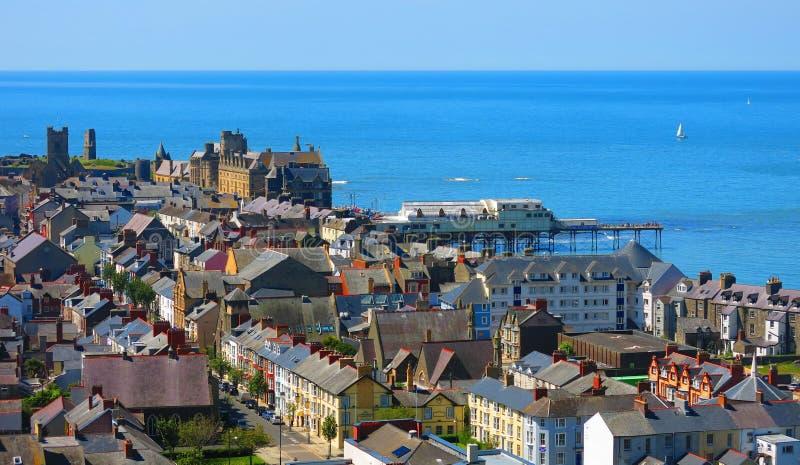 Cidade do beira-mar de Aberystwyth imagens de stock