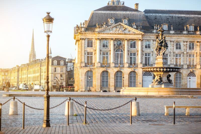 Cidade do Bordéus em França foto de stock