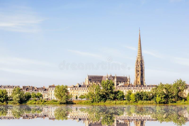 Cidade do Bordéus em França foto de stock royalty free