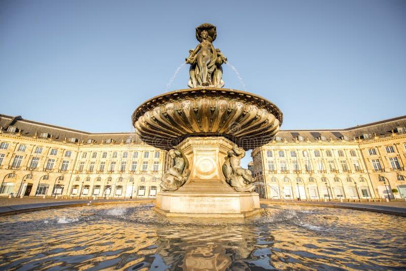 Cidade do Bordéus em França fotos de stock royalty free