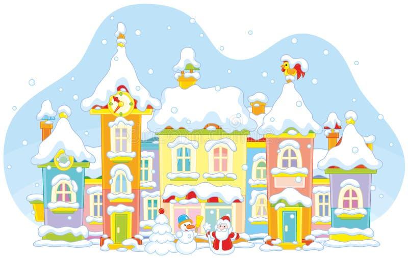 Cidade do brinquedo do inverno ilustração royalty free