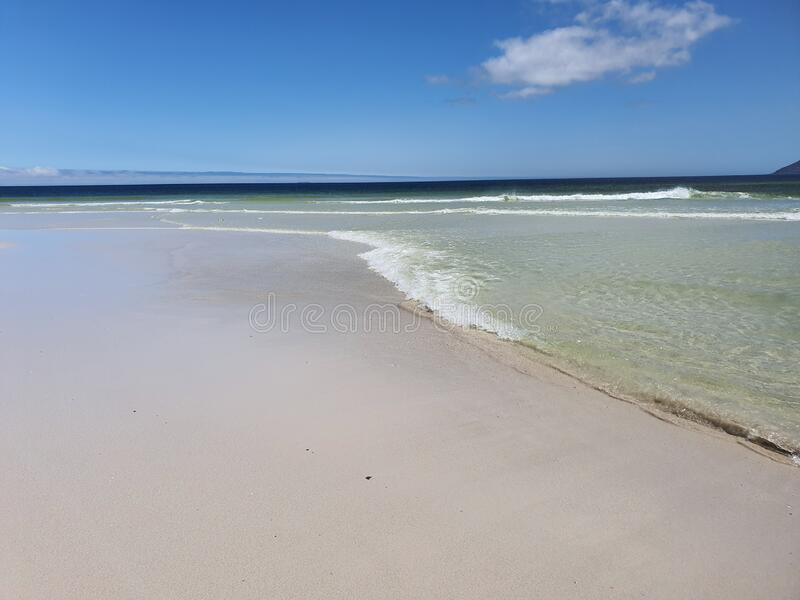 Cidade do Cabo de Noordhoek Beach no Oeste fotografia de stock