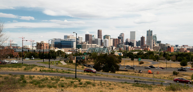 Cidade do centro de Denver, Colorado imagens de stock royalty free