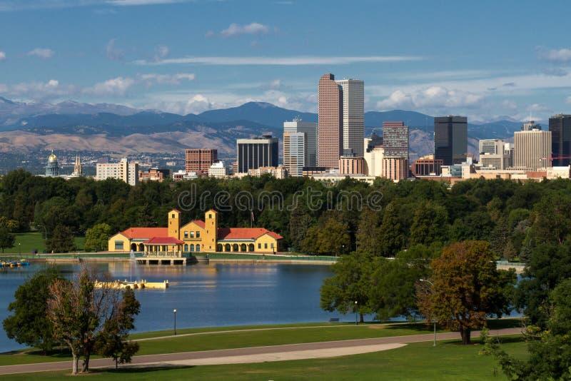 Cidade do centro de Denver, Colorado foto de stock