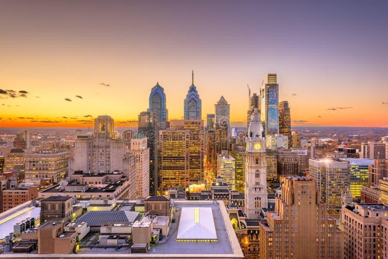 Cidade do centro de Philadelphfia, Pensilvânia, EUA imagens de stock