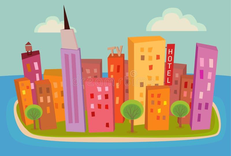 Cidade do console fotos de stock
