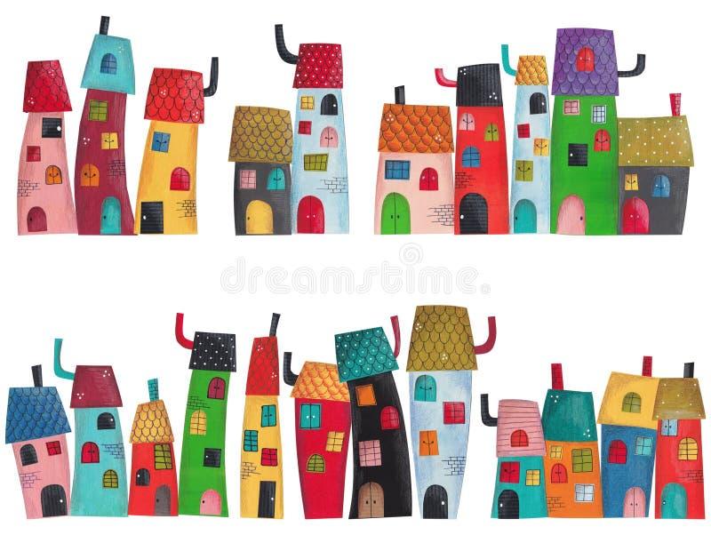 Cidade do conto de fadas ilustração royalty free
