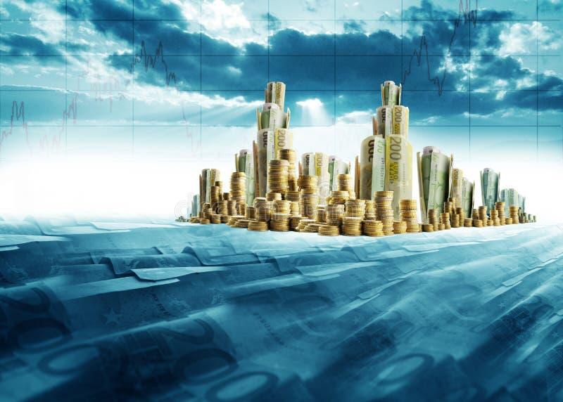 Cidade do dinheiro ilustração royalty free