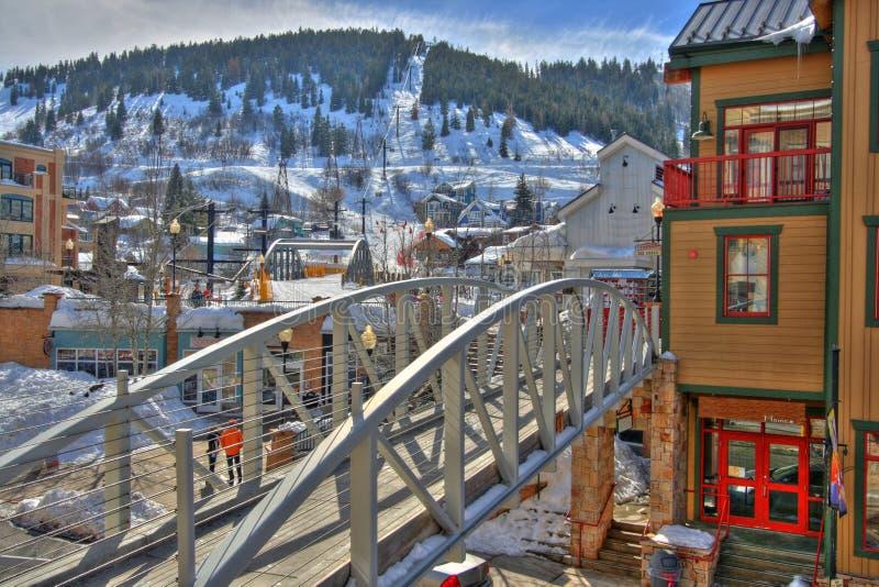 cidade do esqui imagens de stock