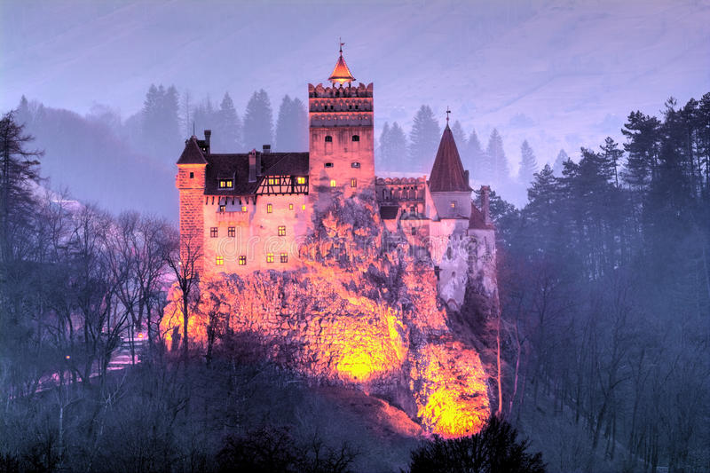 Cidade do farelo, castelo de Dracula foto de stock