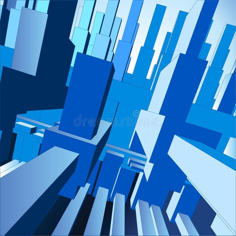 cidade do fundo do vetor 3D ilustração stock